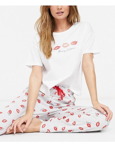 Pigiami Bianco donna Merry Kissmass - Pigiama bianco - New Look