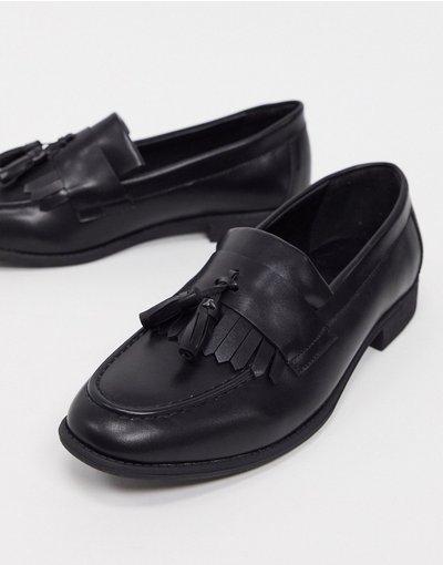 Scarpa elegante Nero uomo Mocassini con nappe neri - New Look - Nero