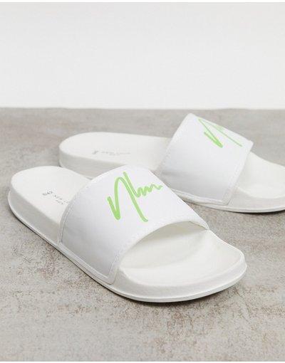 Novita Bianco uomo Sliders bianche - New Look - Bianco - NLM