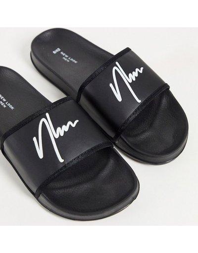 Novita Nero uomo Sliders nere - New Look - NLM - Nero