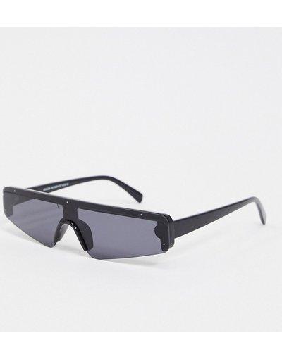 Occhiali Nero uomo Occhiali da sole a mascherina stretti neri - New Look - Nero