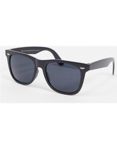Occhiali Nero uomo Occhiali da sole rétro neri - New Look - Nero