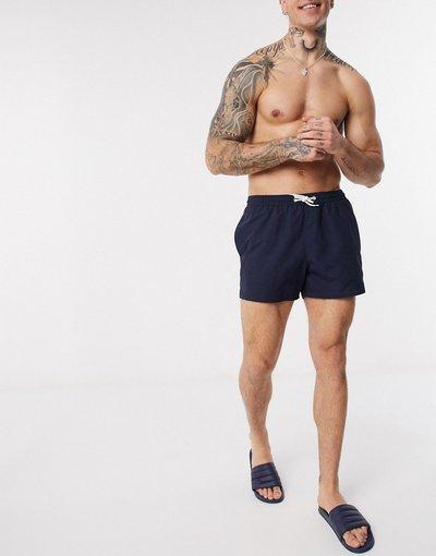 Costume Navy uomo Pantaloncini da bagno basic blu navy - New Look