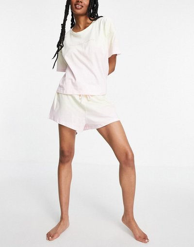 Pigiami Giallo donna dye con sloganPositivity- Pigiama giallo dip - New Look