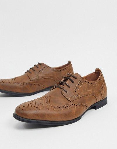 Scarpa elegante Marrone uomo Scarpe brogue marrone scuro - New Look
