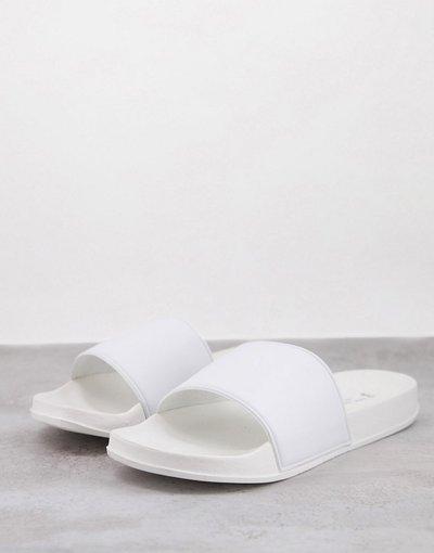 Novita Bianco uomo Slider bianche - New Look - Bianco