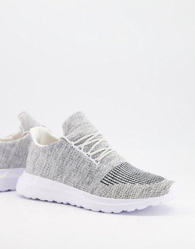 Sneackers Grigio uomo Sneakers grigie in maglia - New Look - Grigio
