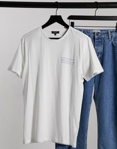T-shirt Bianco uomo shirt bianca con stampaNew Mission- New Look - Bianco - T