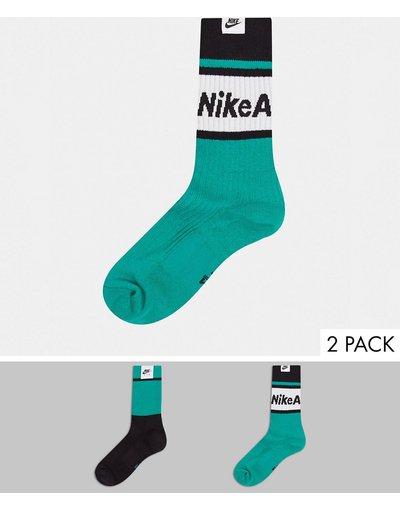 Calze Nero uomo Confezione da 2 calzini nero/verde - Nike Air