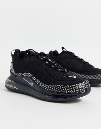 Sneackers Nero uomo Sneakers in triplo nero - Nike Air - Max 720 - 818