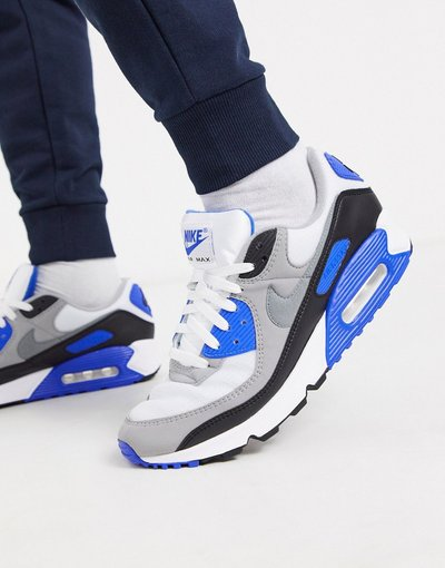 Sneackers Bianco uomo Sneakers bianche/blu reale - Air Max 90 Recraft - Bianco - Nike