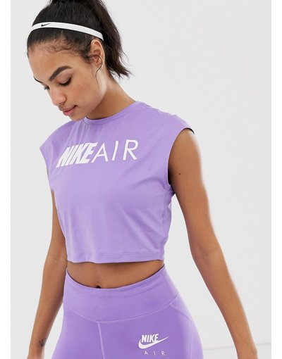 T-shirt Viola donna shirt corta viola - Nike Air - T