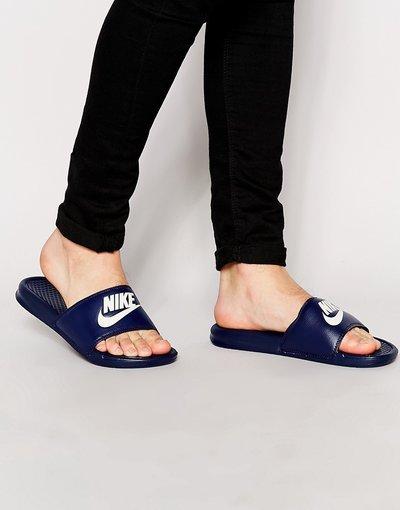 Novita Blu uomo Benassi JDI 343880 - Slider blu navy - Nike - 403
