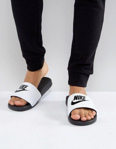 Novita Bianco uomo Slider bianche e nere - Benassi JDI - Bianco - Nike