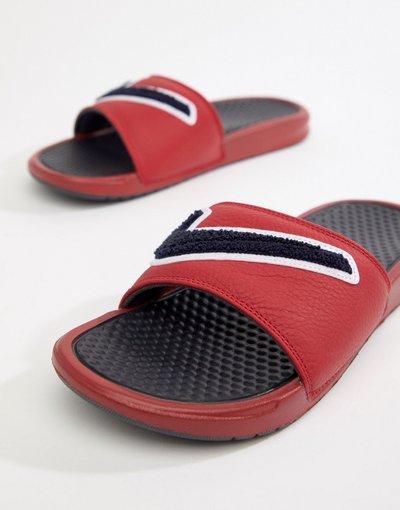 Rosso uomo Slider rosse in ciniglia AO2805 - Benassi JDI - Nike - Rosso - 600