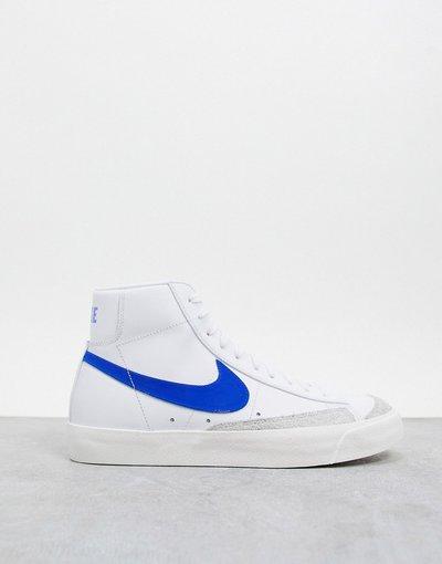 Stivali Bianco uomo Sneakers alte anni'77 color bianco/blu - Blazer - Nike