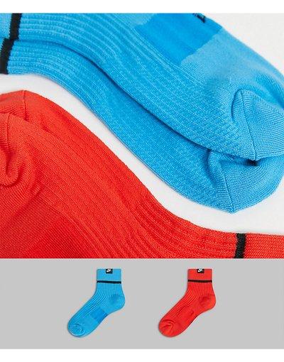 Intimo Rosso uomo Confezione da 2 paia di calzini corti rosso/blu - Nike Essential