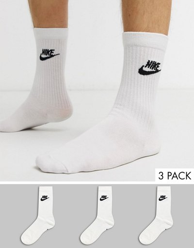 Intimo Bianco uomo Confezione da 3 calzini essenziali bianchi - Evry - Bianco - Nike