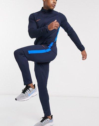 Calcio Navy uomo Tuta sportiva basic blu navy e arancione - Nike Football Academy