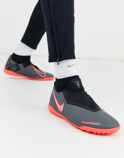 Calcio Grigio uomo Phantom Vision Academy TF - Sneakers grigio scuro - Nike Football