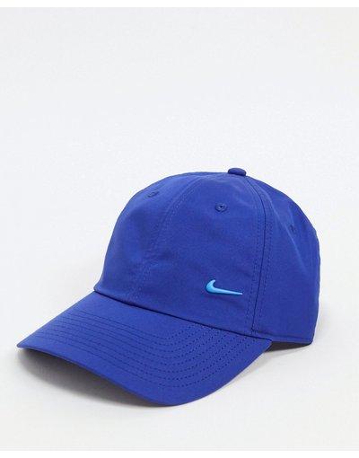 Cappello Blu uomo Cappellino blu reale con logo Nike metallizzato - Nike - H86
