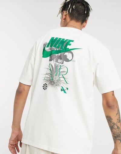T-shirt Beige uomo shirt bianco sporco con stampa grafica - Revival - Nike - Beige - T