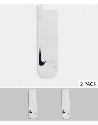Intimo Bianco uomo Confezione da 2 paia di calzini bianchi - Nike Running - Bianco