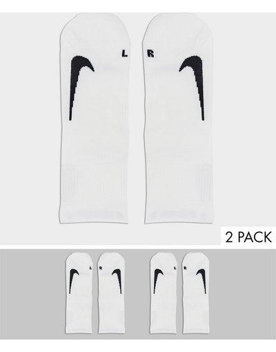 Intimo Bianco uomo Confezione da 2 paia di calzini con logo bianchi - Nike Running - Bianco