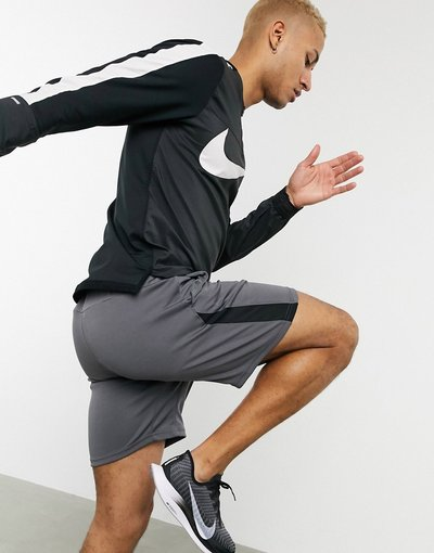 Nero uomo Top con zip corta nero - Nike Running Element