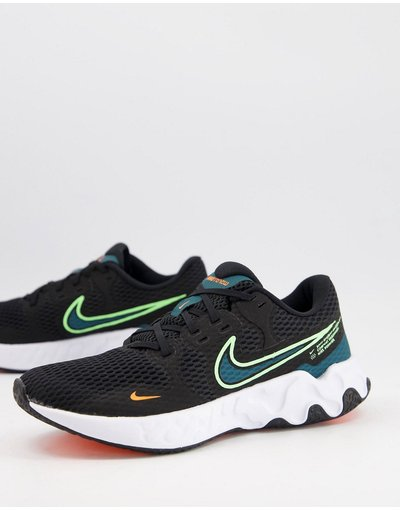 Sneackers Nero uomo Sneakers nere e verdi - Renew Ride 2 - Nike Running - Nero