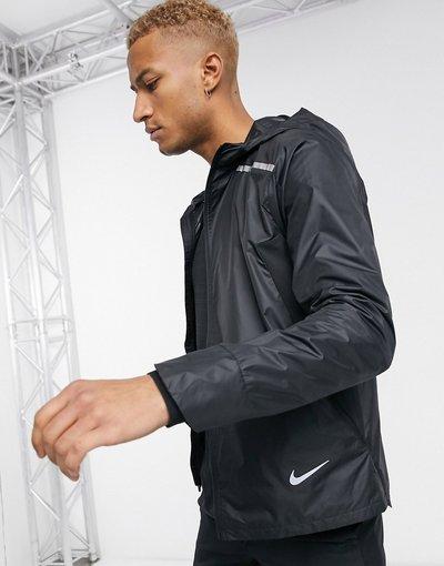 Nero uomo Nike Running - Giacca nera - Repel - Nero
