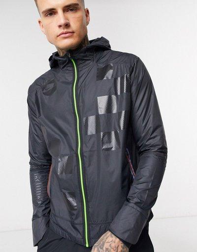 Nero uomo Run Wild Pack Shield - Nike Running - Giacca nera - Nero