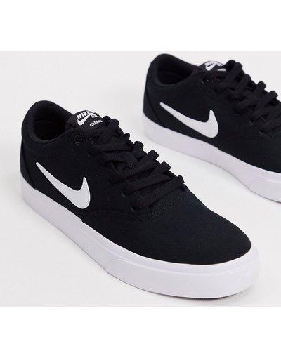 Stivali Nero uomo Sneakers di tela nere/bianche - Nike SB - Charge - Nero
