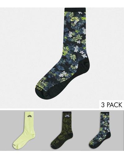 Intimo Multicolore uomo Confezione da 3 paia di calzini - Multicolore - Nike SB