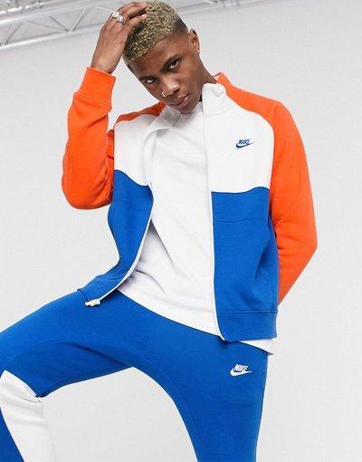 Novita Multicolore uomo Tuta sportiva blu/arancione con zip - Multicolore - Nike
