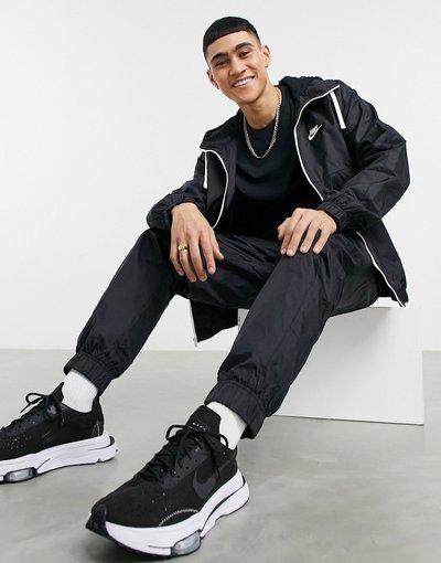 Novita Nero uomo Tuta sportiva con felpa con cappuccio e zip nera - Nike - Nero