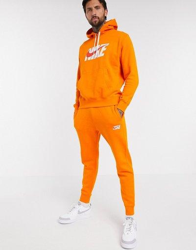 Novita Arancione uomo Tutta sportiva arancione con felpa con cappuccio - Nike