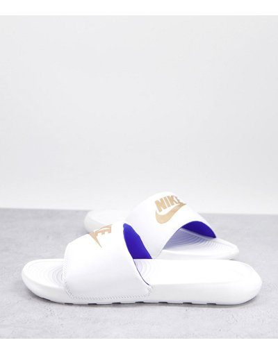 Novita Bianco uomo Sliders bianche e oro - Victori One - Bianco - Nike