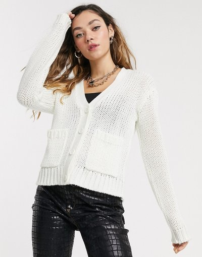 Bianco donna Cardigan con tasche bianco - Noisy May