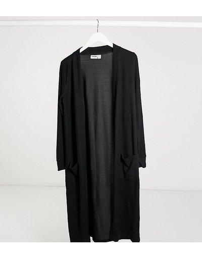 Cardigan lungo nero - Noisy May Tall  donna Nero