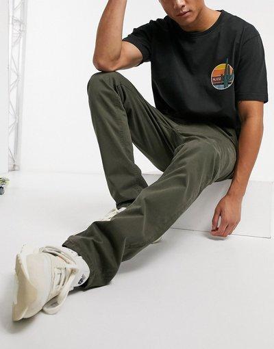 Pantalone Verde uomo Chino slim kaki - Nudie Jeans Co - Slim Adam - Verde
