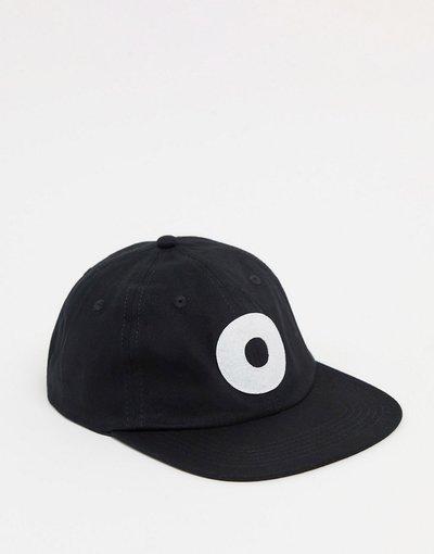 Cappello Nero uomo Cappellino con sei pannelli e chiusura posteriore nero - Obey