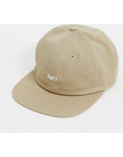 Cappello Beige uomo Cappellino con 6 pannelli e cinturino posteriore beige - Jumbled - Obey