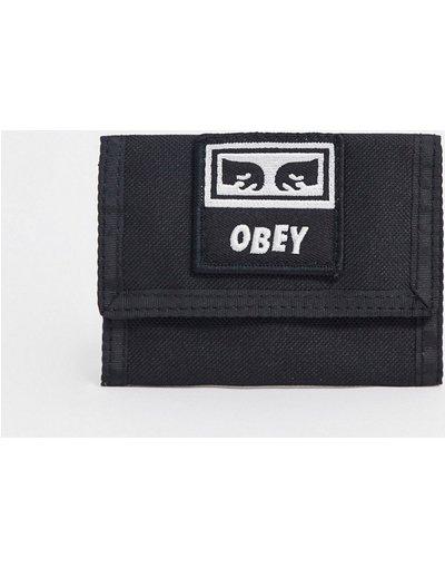 Portafoglio Nero uomo Portafoglio a libro nero - Takeover - Obey