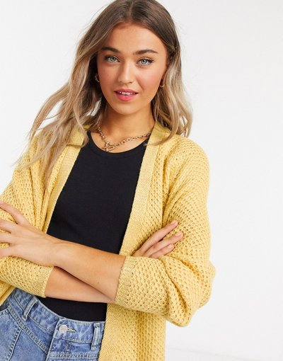 Giallo donna Cardigan a maniche lunghe giallo - Only