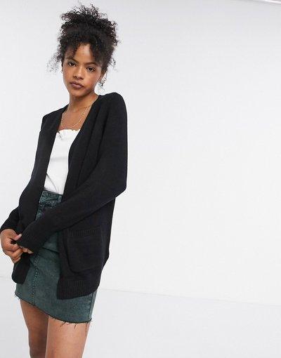 Nero donna Cardigan lavorato in maglia nero - Only