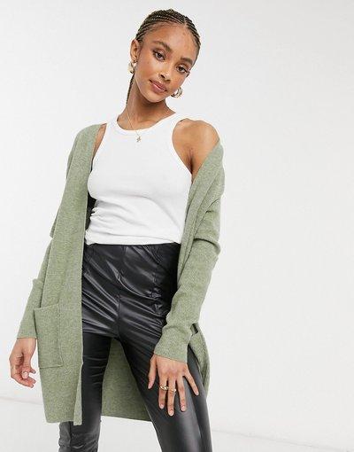 Verde donna Cardigan lungo verde - Only