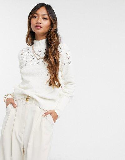 Bianco donna Maglione con collo alto bianco - Coya - Only