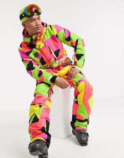 Multicolore uomo Hold Your Colour - Tuta da sci multi - Multicolore - OOSC