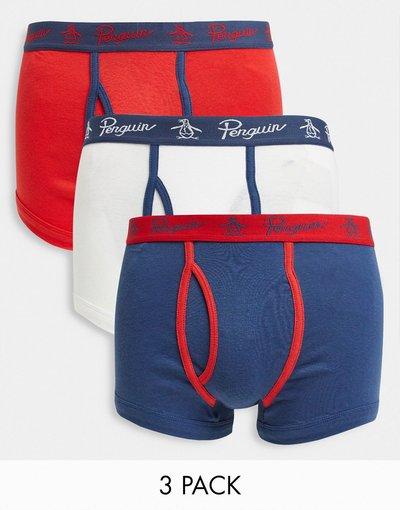 Calze Multicolore uomo Confezione da 3 paia di boxer - Original Penguin - Multicolore